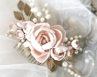 Vintage inspired Bridal hair comb, Bronze Wedding hair comb, Bridal headpiece, Wedding headpiece, Bridal hair piece, Wedding hair piece