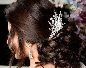 Pearl Bridal hair comb, Wedding hair comb, Bridal headpiece, Wedding headpiece, Bridal hair piece, Wedding hair piece, Bridal head piece