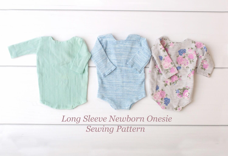 Sewing Pattern Long Sleeve Newborn Onesie | Etsy