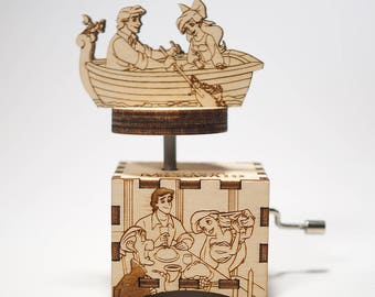 Little Mermaid Music Box - Part Of Your World - Personalized engraved gift. Hand cranked mechanism.