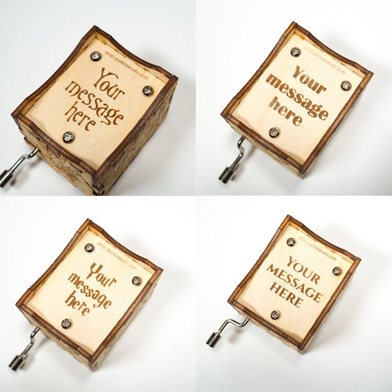 Some Day My Prince Will Come Personalized engraved gift Snow White Music Box Hand cranked mechanism.