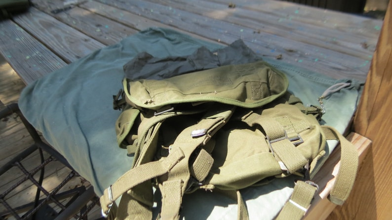 WW2 US Army Military M1945 Field Pack Backpack Upper Rucksack