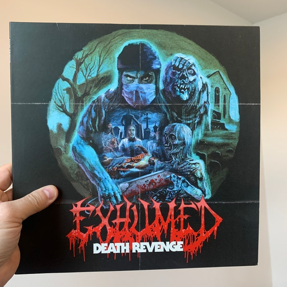 Exhumed Death Revenge vinyl record album LP clear blue and red splatter Relapse Records
