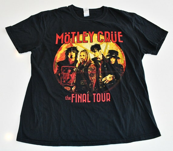 Motley Crue The Final Tour All Bad Things Must Come To An End concert band shirt men's XL