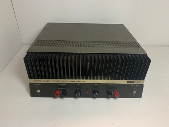 1976 Harman Kardon Citation Twelve fully serviced and recapped vintage stereophonic power amplifier 60 watts stereo power