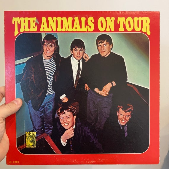 The Animals on Tour live original pressing vinyl record album LP VG+