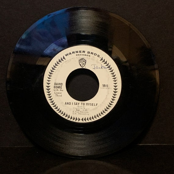 """David Bowie with the Lower Third Can't Stop Thinking About Me / And I Say To Myself 7"""" 45rpm white label promo vinyl record"""