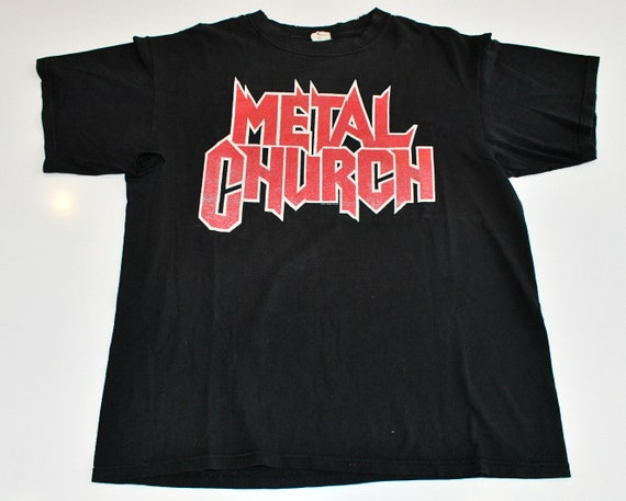 Metal Church 2006-2007 USA concert tour band tee shirt T-shirt men's Large