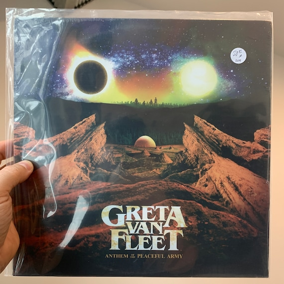 Greta Van Fleet Black Anthem of the Peaceful Army pressing vinyl record album SEALED mint unplayed unopened