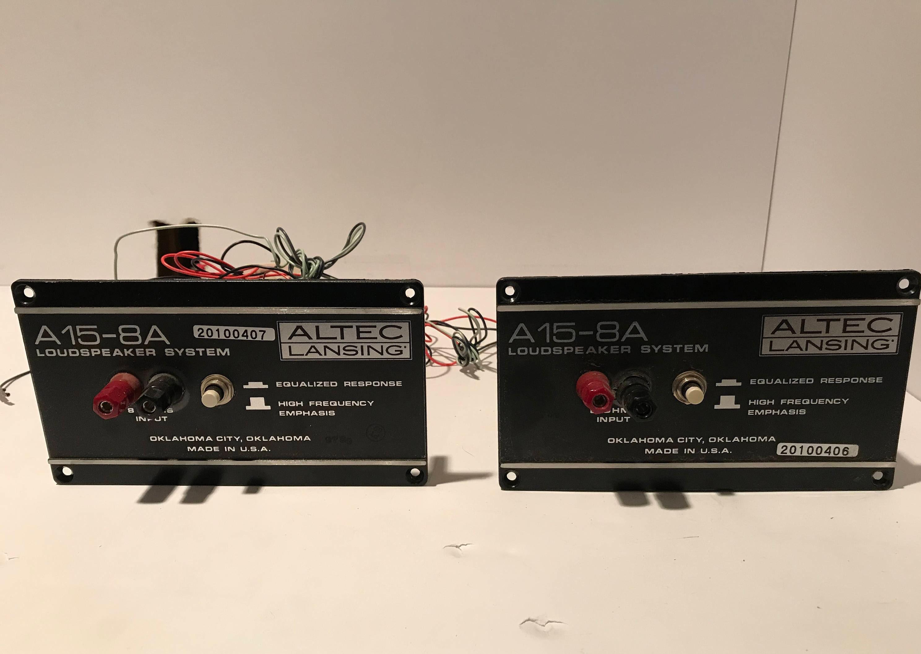 Vintage Altec Lansing Model A15-8A speaker crossover (2