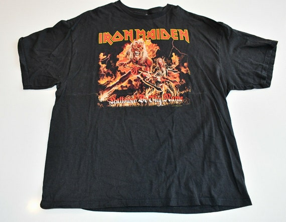 Iron Maiden Hallowed Be Thy Name vintage concert tour band tee shirt men's XXL