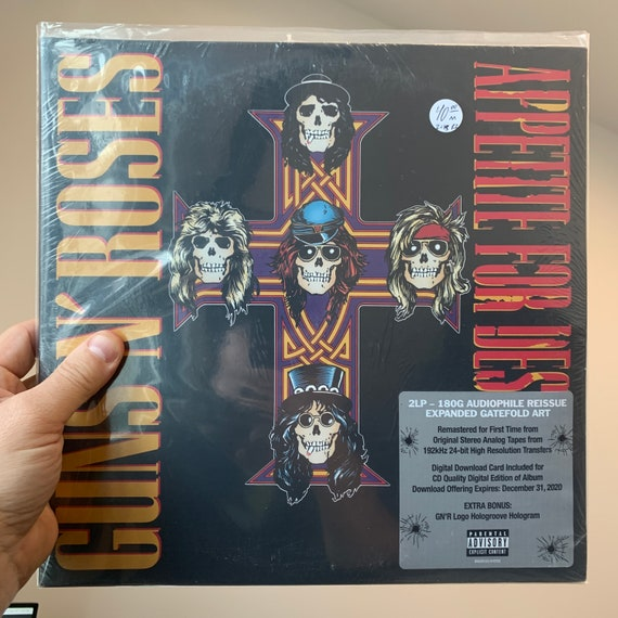 Guns N' Roses Appetite for Destruction reissue remastered 180G vinyl record album SEALED mint unplayed unopened