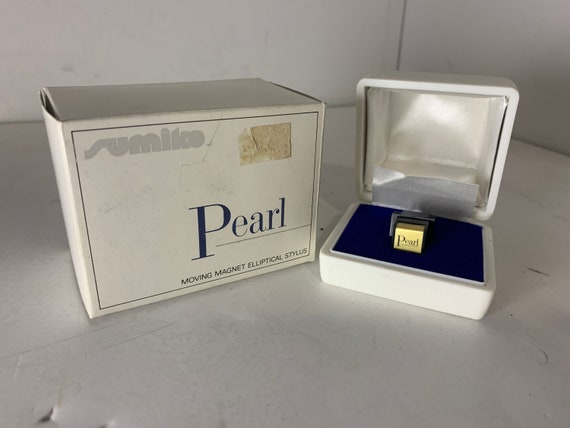 Sumiko Pearl Gold and Black vintage turntable moving magnet MM cartridge in original box-needs stylus