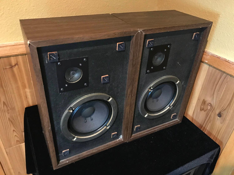1976 advent the advent 3 vintage 2 way bookshelf speakers. Black Bedroom Furniture Sets. Home Design Ideas