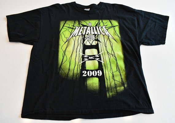 Metallica Met Club 2009 concert tee shirt tour t-shirt fanclub exclusive men's XXL