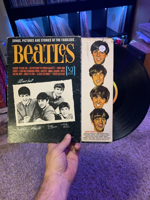 The Beatles Songs, Pictures and Stories of the Fabulous vinyl record Unofficial Release, Stereo Vee Jay Records (2), us, lp 1062, vjlp-1062