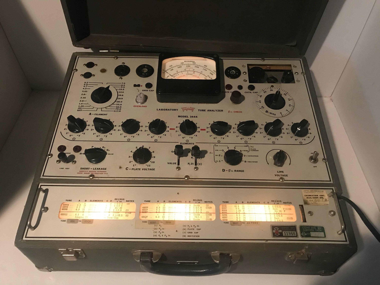 Triplett Model 3444 vintage vacuum tube tester analyzer