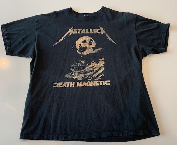 Metallica Death Magnetic World Magnetic concert band tour dates t-shirt tee shirt men's XL