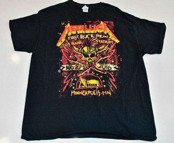 Metallica U.S. Bank Stadium August 20 2016 Minneapolis tour tee shirt XL