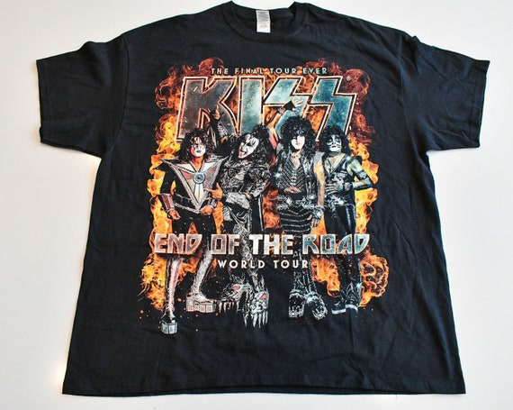 2000 KISS The Farewell Tour concert tour band tee shirt men's XXL