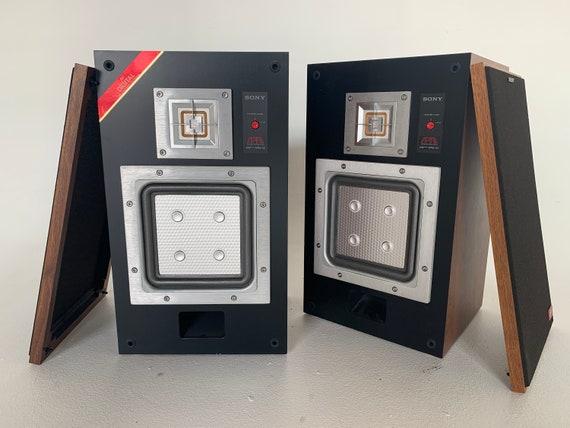 1984 Sony APM-33 W 2-way stereo speakers with fresh refoam