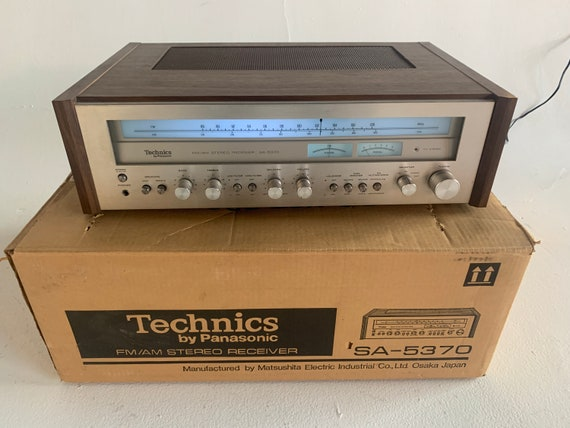 1977 Technics SA-4370 vintage silver face am/fm stereo receiver with LED display upgrade and original factory box