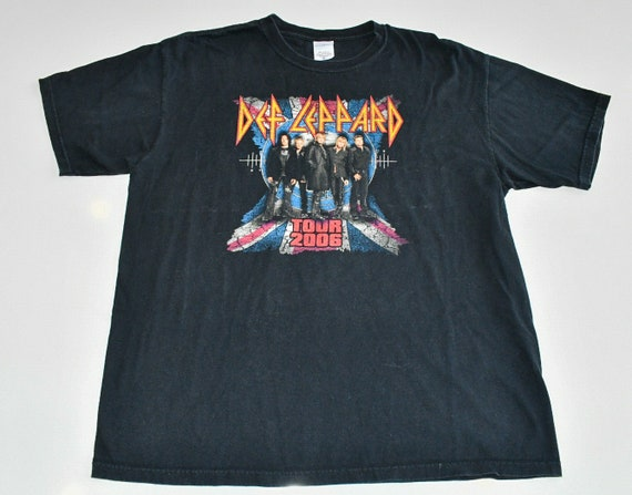 Def Leppard Rock Brigade 2006 world tour concert tee shirt men's XL Anvil