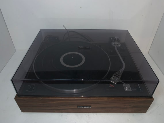 Pioneer PL-15DII SERVICED Vintage Wood Base 2 speed manual belt drive turntable phonograph record player with Shure M111HE stylus/cartridge
