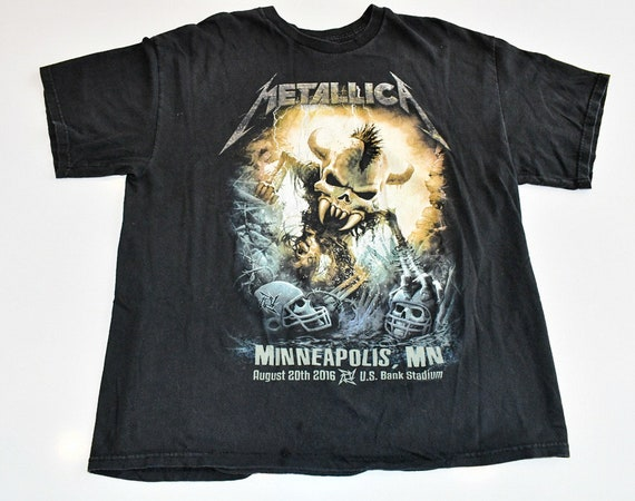 Metallica U.S. Bank Stadium August 20 2016 Minneapolis tour tee shirt XL