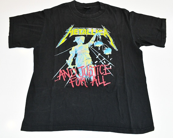 Metallica 1994 And Justice For All band concert tour true vintage tee shirt men's XL