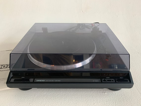 Onkyo CP-1007A 2-speed automatic return turntable with cueing lever and Shure DT35P stylus/cartridge