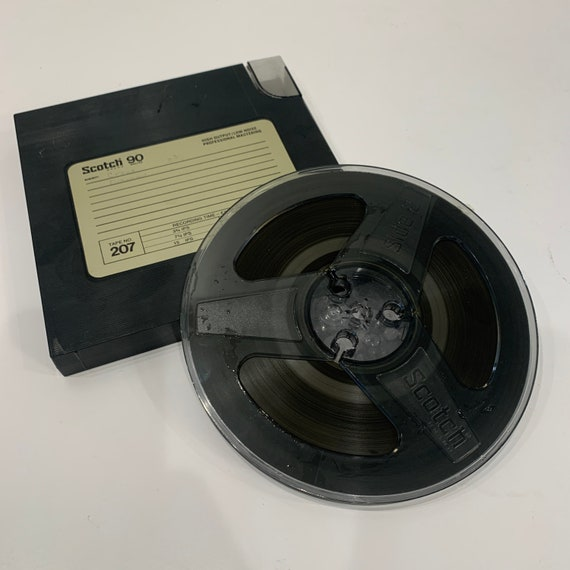 "Scotch 90 minute Tape No. 207 reel to reel recording 7"" tape"