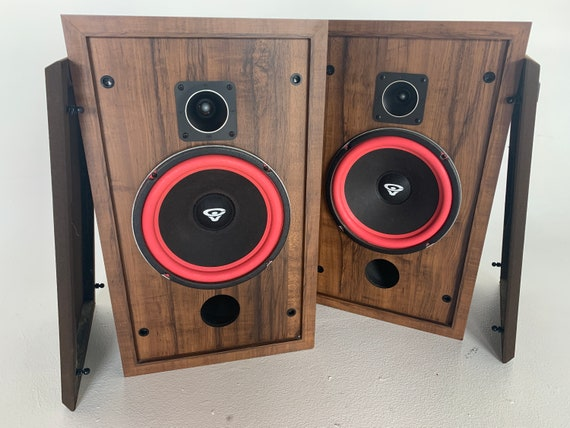 Cerwin-Vega D-2 1986 Walnut two-way vintage stereo speakers with fresh Refoam FREE SHIPPING