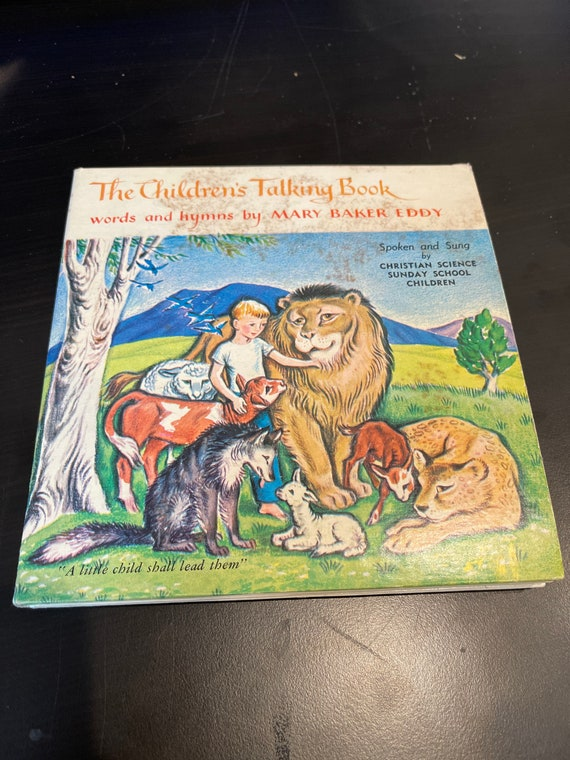 The children's talking book words and hymns by Mary Baker Eddy Christian science or Sunday school children vinyl record book