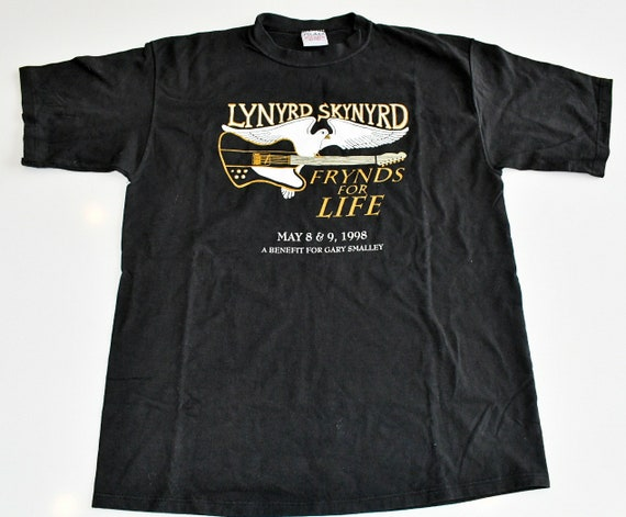 Lynyrd Skynyrd Frynds for Life VIP benefit show for Gary Smalley concert tour tee shirt men's Large