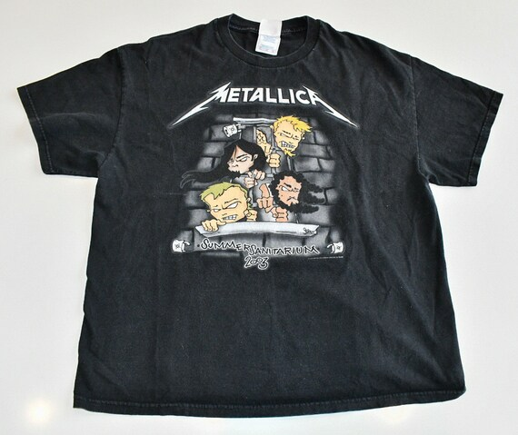Metallica 2003 Summer Sanitarium white concert band tour tee men's XL