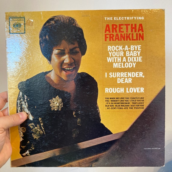 The Electrifying Aretha Franklin original pressing vinyl record album LP VG+ Columbia Six-Eye PROMO