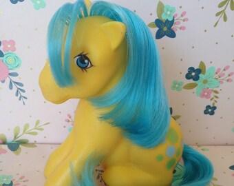 Vintage Hasbro Sitting My Little Pony Bubbles