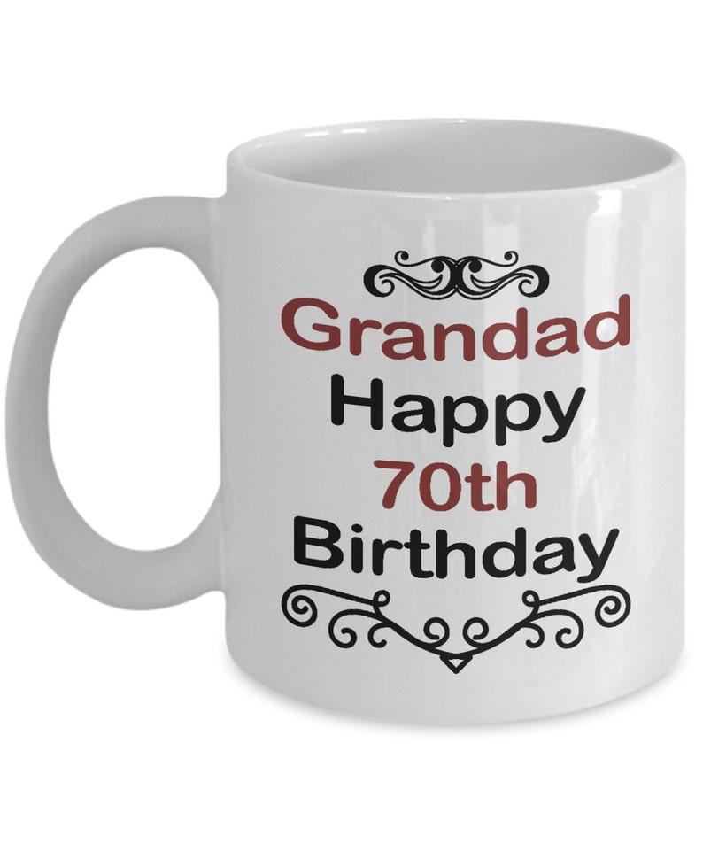 Birthday Mug Gift Grandad Happy 70th