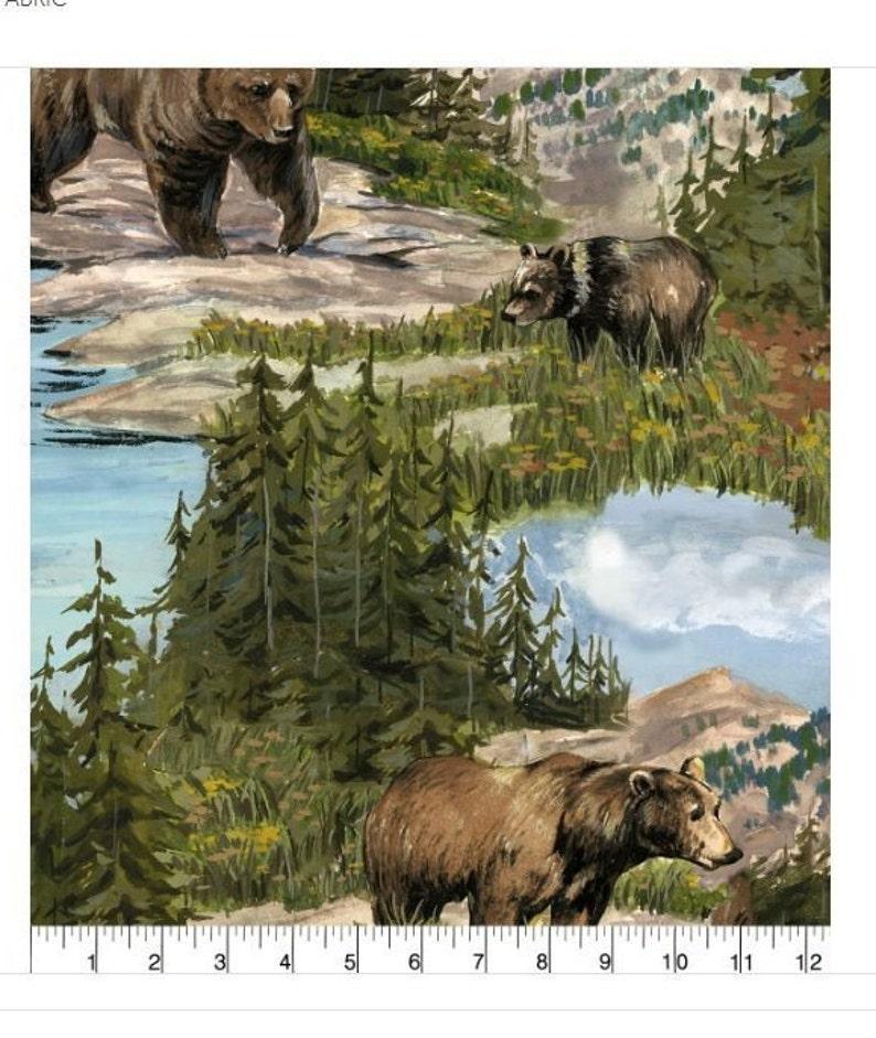 bears Anti Pill pattern Bear Mountain Wilderness hunter outdoors man 9 ft outdoors