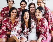 Sale Bridesmaid Robes -Floral Cotton Robes -Getting Ready Robes -Bridal Party -Kimono Robe Discount for Multi Orders, Please message us