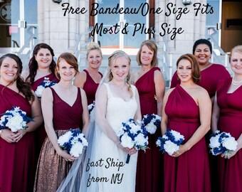 caada3a7bd8 Bridesmaid Dress Convertible Dress Infinity Dress Multiway Dress Wrap Dress  Wedding Dress Prom Dress Cocktail Dress Twist Dress