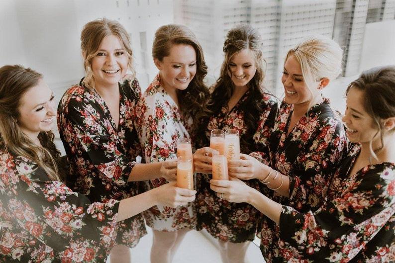 Robe for Bridesmaid Bridesmaid Robe Set of 6  Bridesmaid Robes Bridesmaid Gift Sale Bridal Party Robe Gift for Bridesmaid