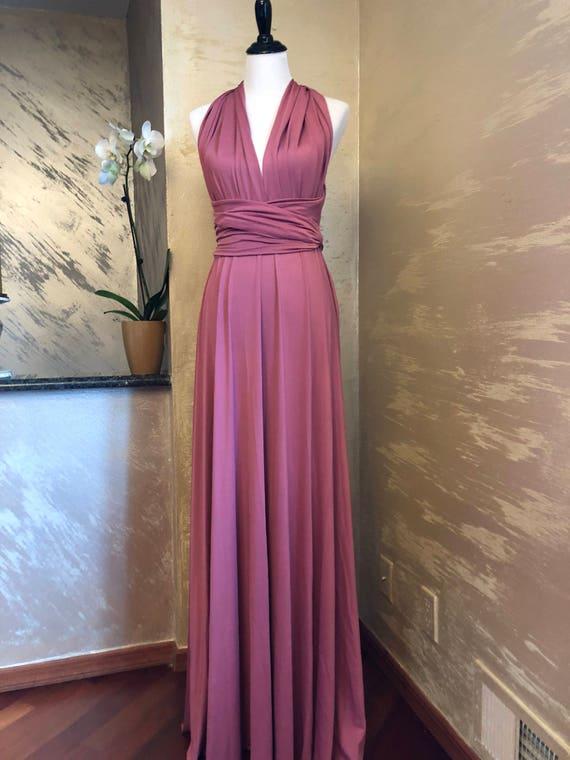 Nostalgia Rose Bridesmaid Infinity Dress Hottest 2018 Bridesmaid Dress Color Dusty Rose Infinity Maxi Wrap Convertible Dress
