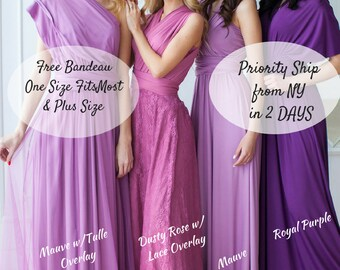 Bridesmaid Dress Infinity Dress Floor Length Maxi Wrap Convertible Dress Wedding Dress Multiway Dress