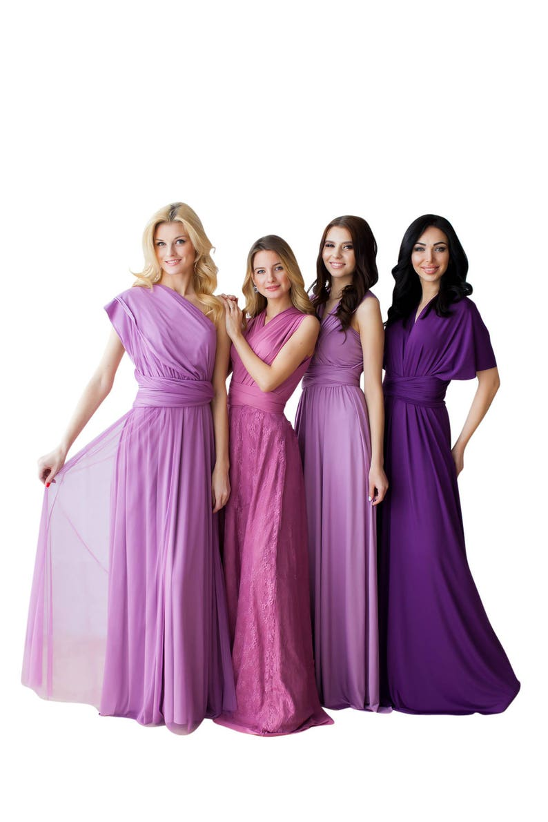 e94f3ddbcf Bridesmaid Dress Infinity Dress Tulle Overlay Mauve Dusty