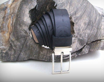 ceinture fantaisie artisanale 3 cm en cuir noir tannage végétal 69773c11b63