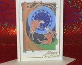 Christmas Cards - Hares i...