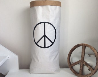 Paperbag for living-peace symbol
