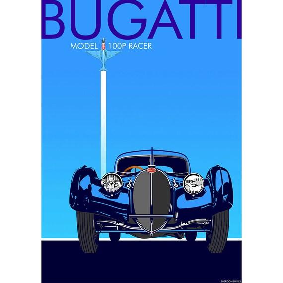 Bugatti Print BUGATTI ATLANTIC Type 57S Car Print French Car